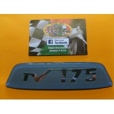 REAR FRAME BADGE -TV175 BLUE CASA