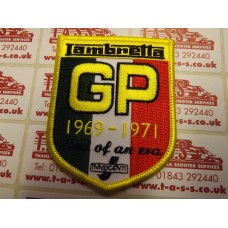 LAMBRETTA GP 69-71 END OF AN ERA  SHIELD, SEW ON PATCH