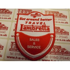 LAMBRETTA  GET AROUND BETTER  SEW ON PATCH