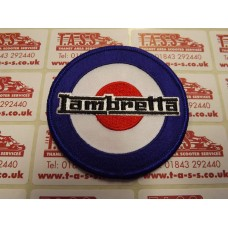 LAMBRETTA LOGO ON TARGET SEW ON PATCH