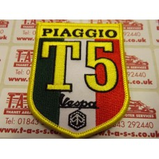 VESPA EMBROIDED SEW ON PATCH T5 SHIELD