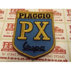 VESPA EMBROIDED SEW ON PATCH PX SHIELD