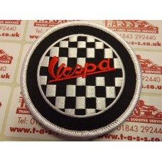 VESPA EMBROIDED SEW ON PATCH VESPA CHECKERED