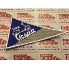 VESPA EMBROIDED SEW ON PATCH TRIANGULAR