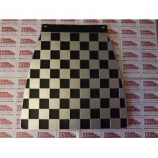 MUDFLAP BLACK AND SILVER CHECK 60's style