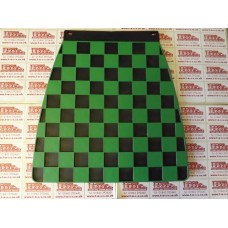 MUDFLAP BLACK AND GREEN CHECK 60's style