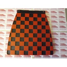 MUDFLAP BLACK AND RED CHECK 60's style