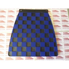 MUDFLAP BLACK AND DARK BLUE CHECK 60's style