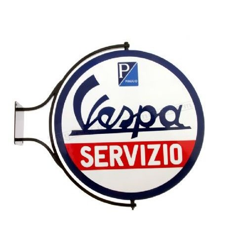 WALL MOUNTED SWINGING SIGN VESPA SERVIZIO