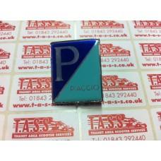 PIAGGIO DIAGONAL CLIP IN BADGE -PX DISC