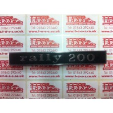 RALLY 200 REAR FRAME  BADGE