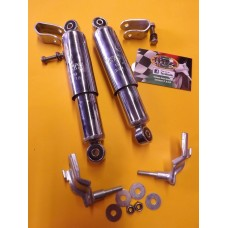 FRONT DAMPER WELD ON CLAMP KIT ESCORT CHROME
