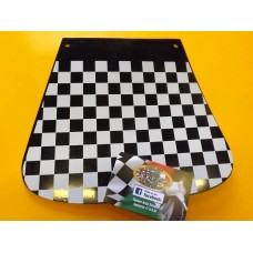 BLACK & WHITE CHECK MUDFLAP