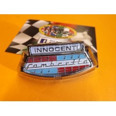 INNOCENTI HORNCAST BADGE LI 2-3 TV SX SILVER LETTERING