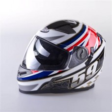 VIPER FULL FACED HELMET -59 FLAG