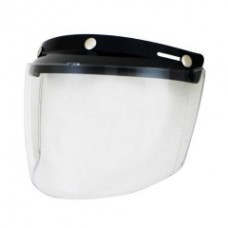 RETRO STYLE FLIP UP VISOR SHIELD CLEAR