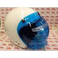 RETRO STYLE BUBBLE VISOR SHIELD BLUE