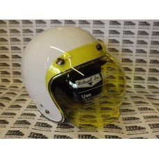 RETRO STYLE BUBBLE VISOR SHIELD YELLOW