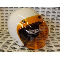 RETRO STYLE BUBBLE VISOR SHIELD AMBER