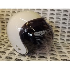 RETRO STYLE BUBBLE VISOR SHIELD SMOKE GRADUATED