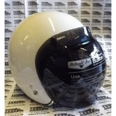 RETRO STYLE BUBBLE VISOR SHIELD DARK SMOKE