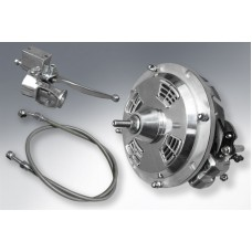 HYDRAULIC FRONT DISC BRAKE ASSEMBLY -POLISHED