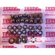 CHAINCASE COVER DOMED NUT KIT STAINLESS STEEL