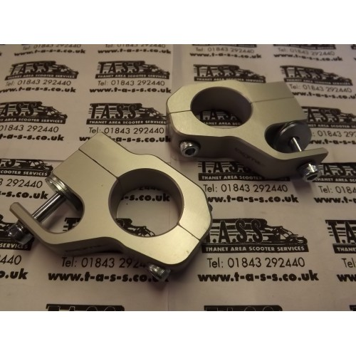 BGM PRO BOLT ON TOP FRONT DAMPER BRACKETS SILVER