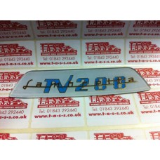REAR FRAME BADGE -TV200