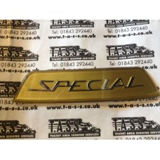 REAR FRAME BADGE GOLDEN SPECIAL CASA