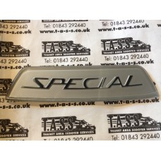 REAR FRAME BADGE SILVER SPECIAL  CASA