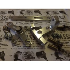 GEAR SWIVEL SET AND ADJUSTER BLOCK BY BGM SILVER