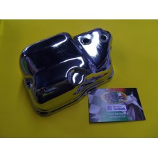 CARB AIRBOX COVER CHROME  PX ,LML, OIL INJECTION