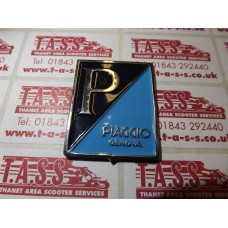 PIAGGIO GENOVA METAL LEGSHIELD DIAGONAL BADGE LARGE