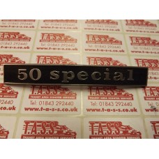 50 SPECIAL REAR FRAME BADGS