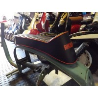 ANCILLOTTI SEAT- ORANGE LOGO AND PIPING