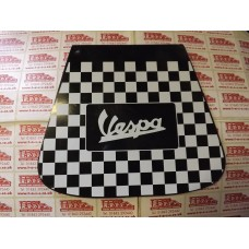 MUDFLAP BLACK AND WHITE CHECK VESPA LOGO