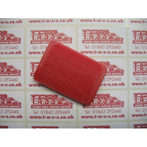 BRAKE PEDAL RUBBER RED CASA