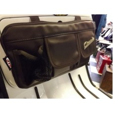 GLOVEBOX BAG NYLON DK BROWN LEATHER LOOK