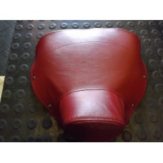 SINGLE SEAT COVER DELUXE OXBLOOD RED FRONT