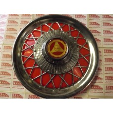 WHEEL COVER SPOKED -RED
