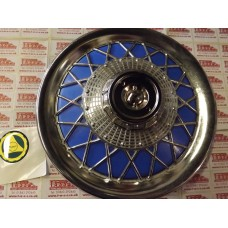 WHEEL COVER SPOKED -BLUE