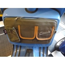 GLOVEBOX BAG CANVAS OLIVE & TAN TRIM