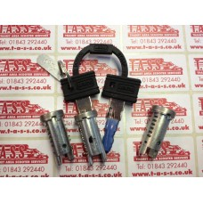 STEERING LOCK BARREL + KEY PX SET OF 3