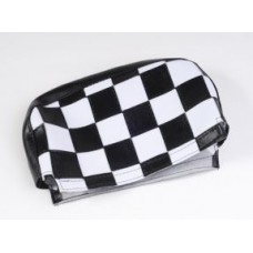 BACKREST BLACK AND WHITE CHECK PAD COVER