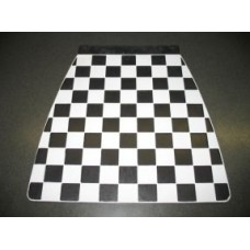 MUDFLAP WHITE & BLACK CHECK 60's style