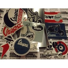 VESPA 9 PCE STICKER SET IN TIN