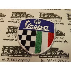 VESPA EMBROIDED SEW ON PATCH LOGO CHECK ITALIAN FLAG