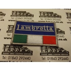 LAMBRETTA LOGO ITALIAN FLAG SEW ON PATCH