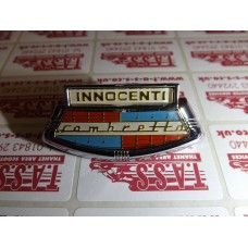 INNOCENTI HORNCAST BADGE LI 2-3 TV SX GOLD LETTERING